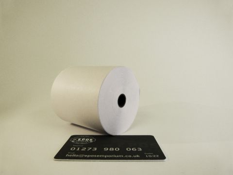 76 x 70 Two Ply Till Rolls White/Pink (Box of 20) BPA Free